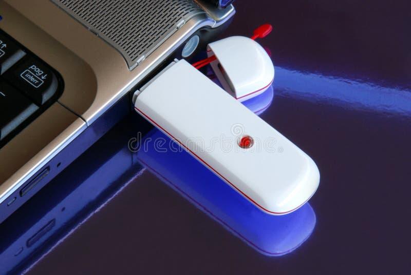 3g notatnik modemu usb klucza obraz stock