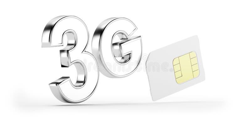 Download 3G SIM card stock illustration. Illustration of equipment - 27625304