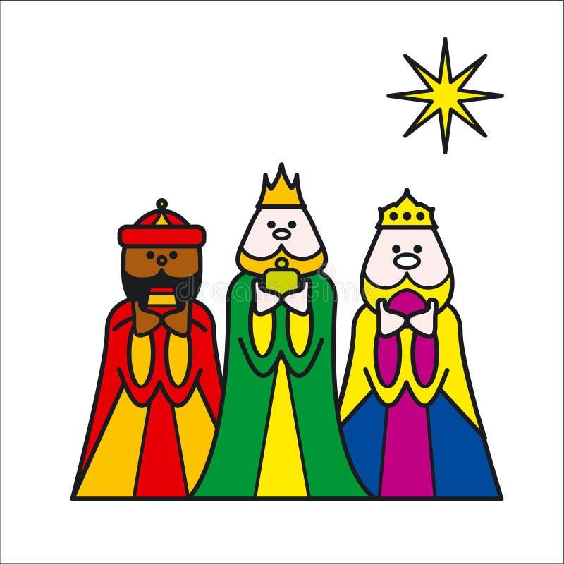 3kings. Stylised illustration of 3 kings royalty free illustration