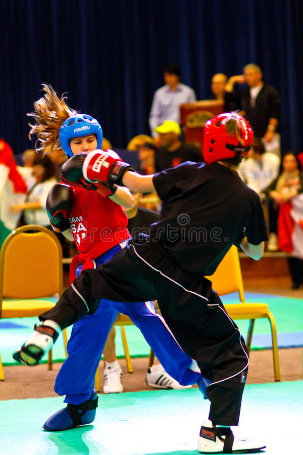 3rd world kickboxing championship 2011 royalty free stock photos