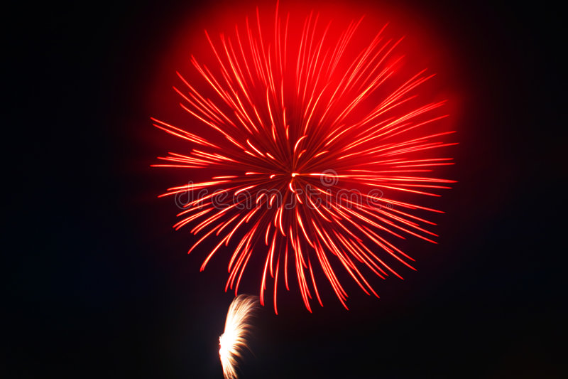 4ème des feux d'artifice de juillet image stock