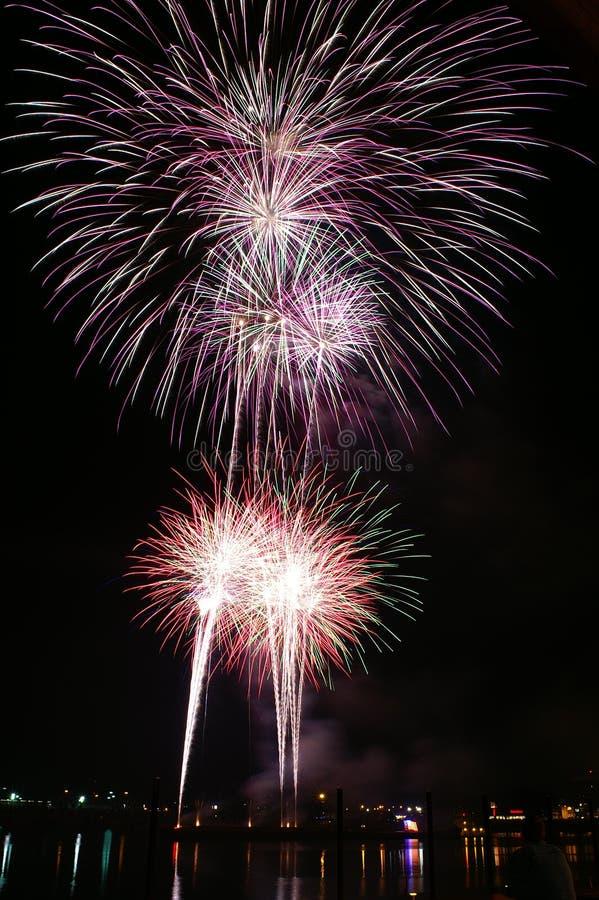 4ème des feux d'artifice de juillet photographie stock libre de droits