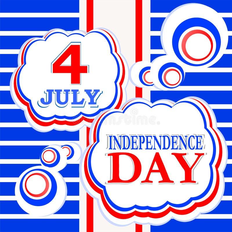 4ème du fond de Jour de la Déclaration d'Indépendance de juillet illustration libre de droits
