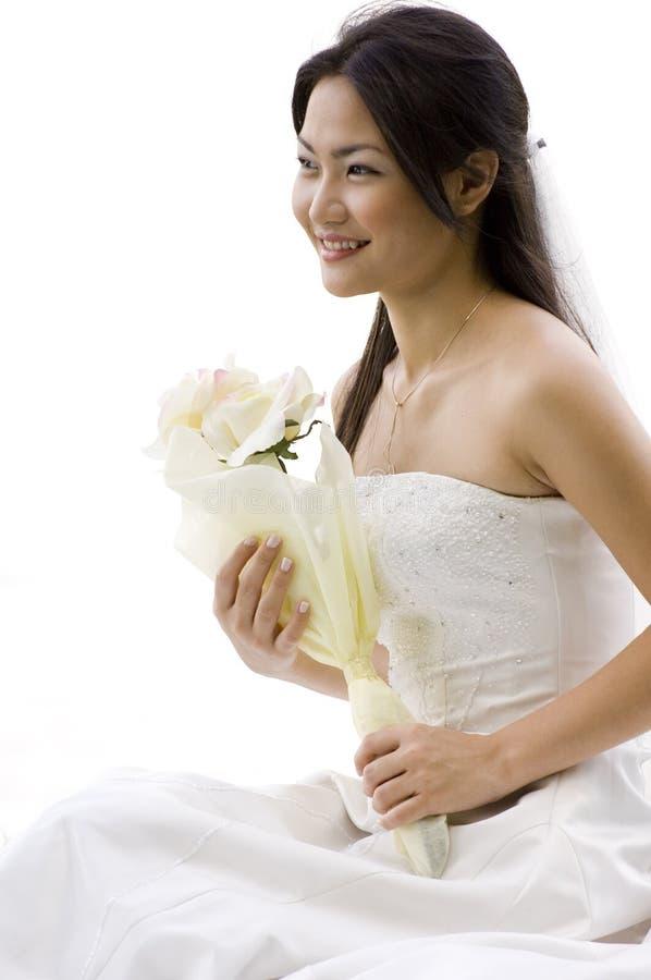 4个亚洲人新娘 免版税库存图片