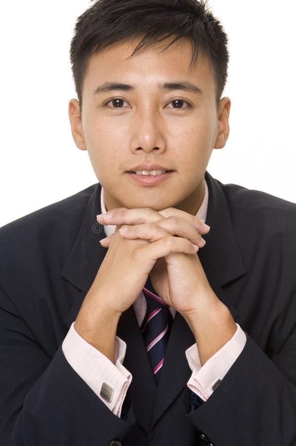 4个亚洲人生意人 免版税库存图片