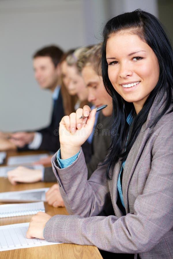 4个企业女性人小组年轻人 库存照片