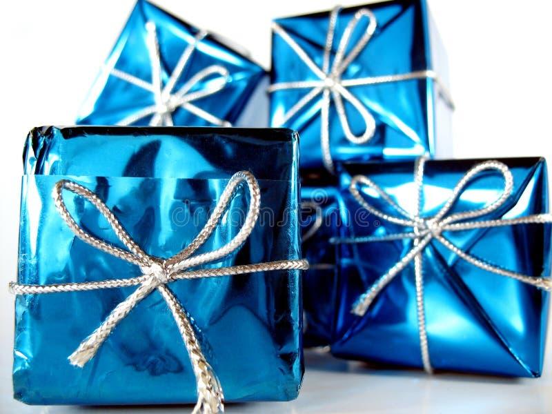 4个圣诞节礼物 免版税库存照片