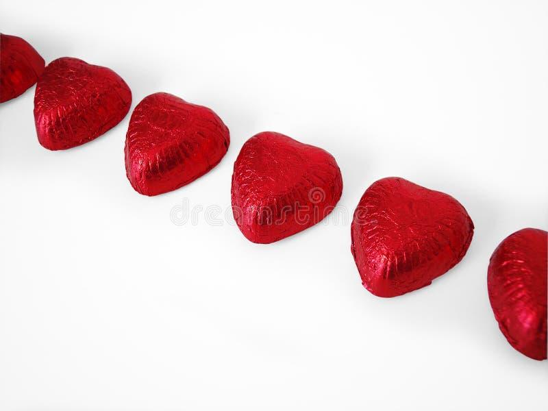 4个巧克力重点包括的路径 库存照片