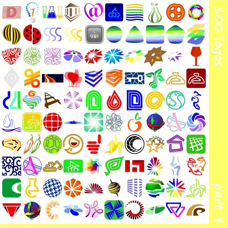 4个徽标符号 向量例证