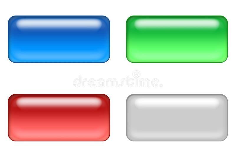 4个按钮万维网 向量例证