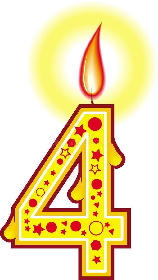 4个生日蜡烛 皇族释放例证