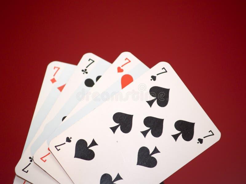 4个看板卡 免版税库存照片