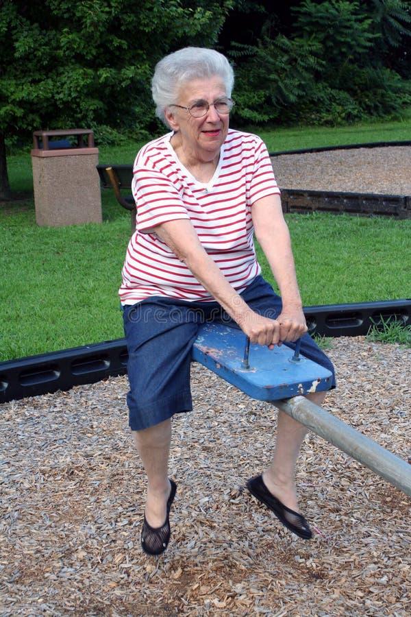 4个祖母跷跷板 免版税库存照片