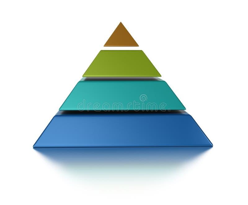 4个级别金字塔 皇族释放例证
