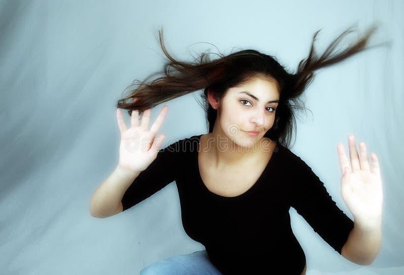 4个舞蹈头发 免版税库存照片
