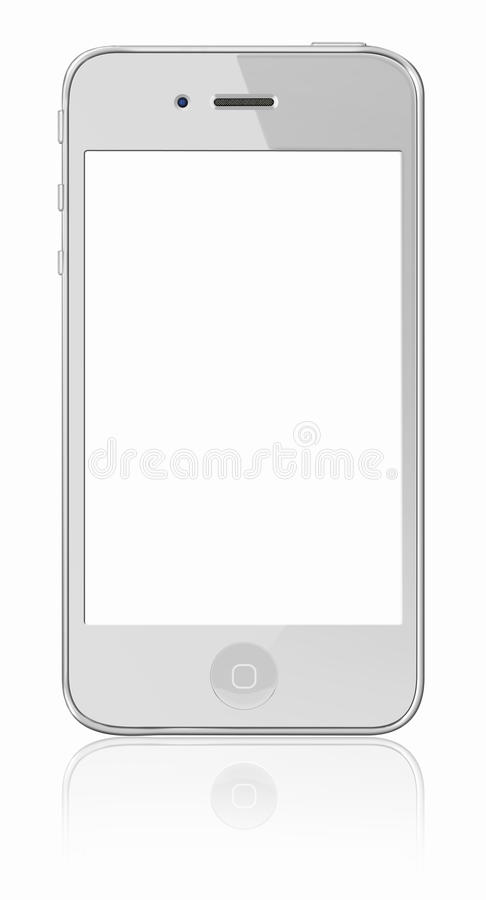 4个苹果iphone新的白色 皇族释放例证