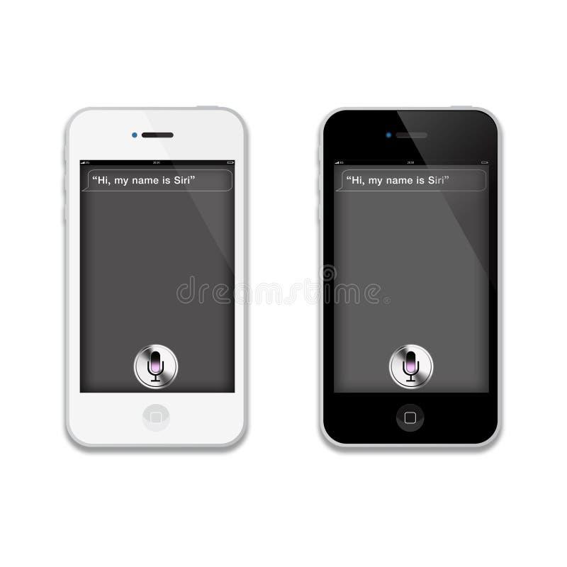 4个苹果iphone s siri 向量例证