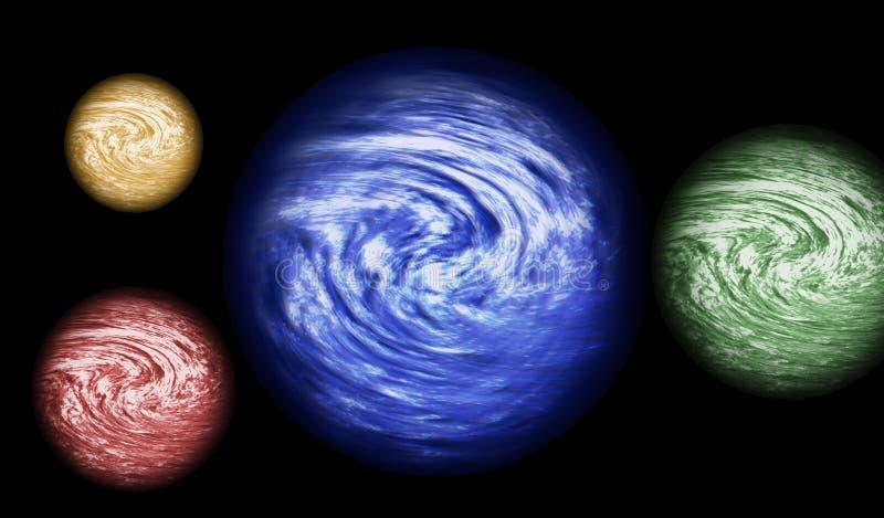 4个行星 皇族释放例证