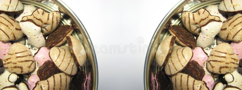 4个边界曲奇饼 库存图片