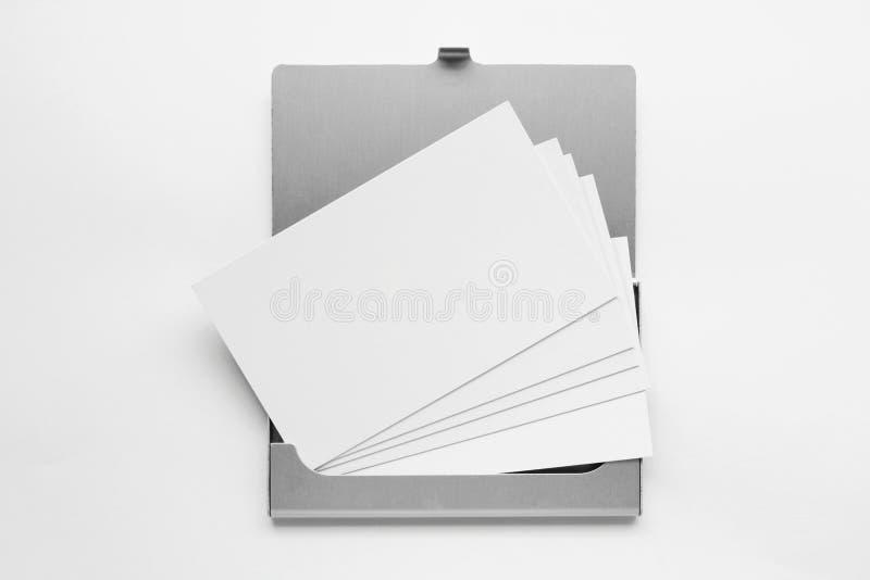 4个配件箱名片 库存图片