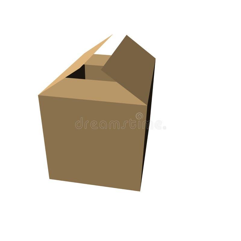 4个配件箱褐色 库存照片
