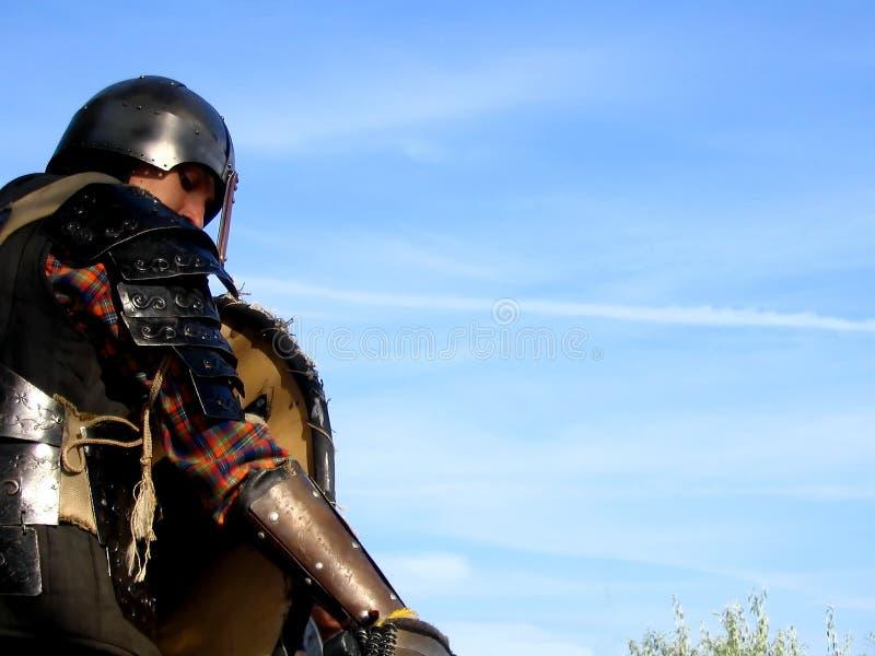 4个骑士全副盔甲 库存照片