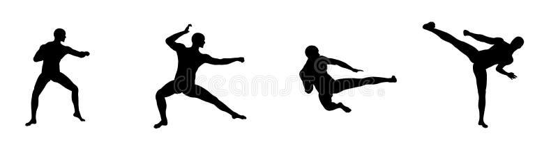 4个fu kung移动 向量例证