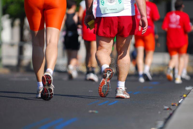 4位马拉松运动员 免版税库存图片