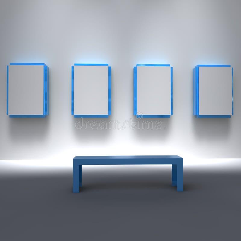 4定制准备好画廊的投资组合 库存例证