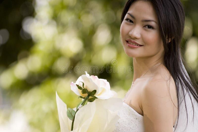4室外的新娘 库存图片