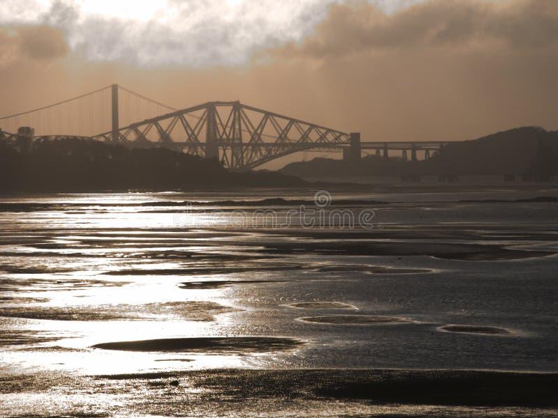 4座桥梁 库存图片