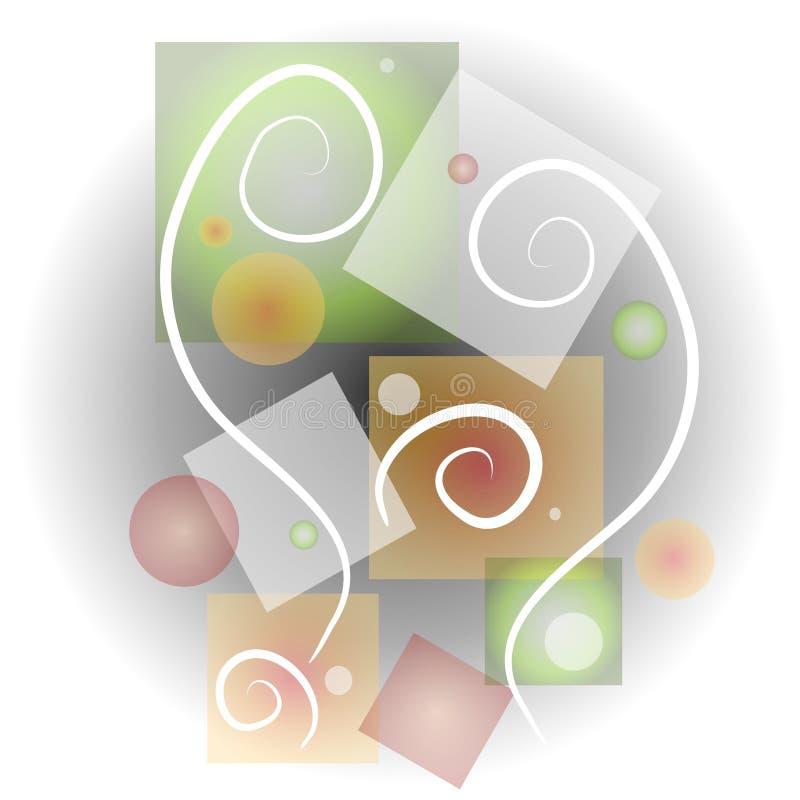 4抽象派拼贴画形状 皇族释放例证
