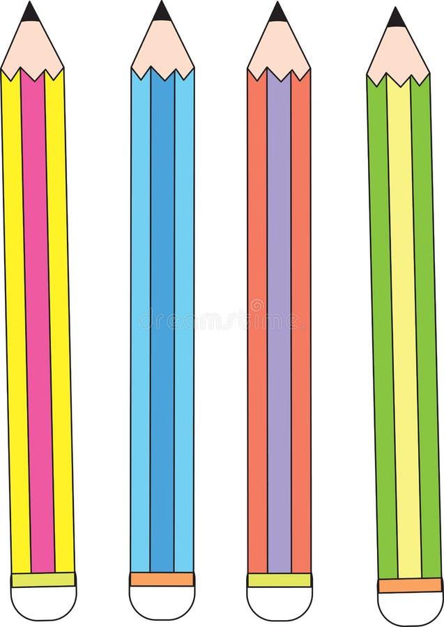 4支铅笔 向量例证