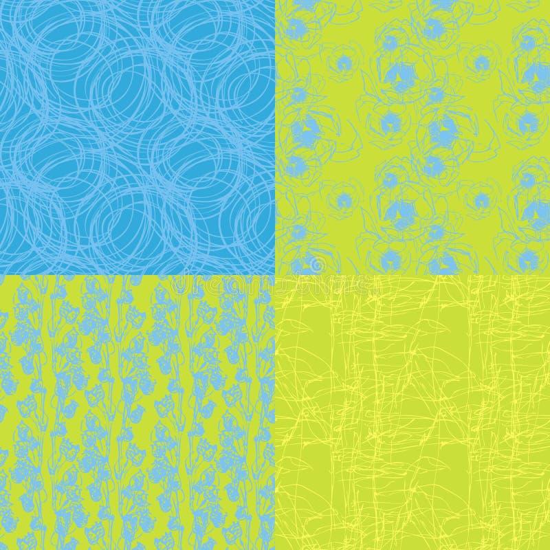 4无缝的纹理 库存例证