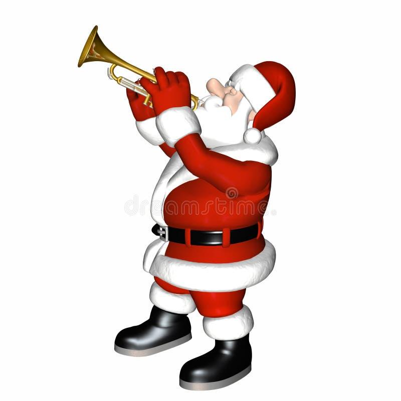4爵士乐平稳的圣诞老人 库存例证