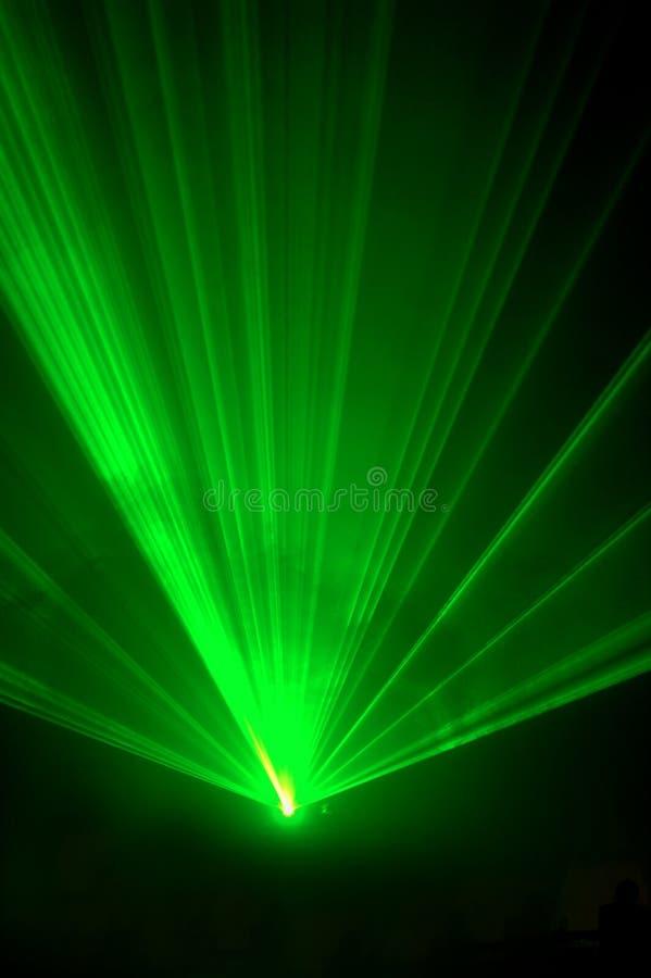 4绿色激光 免版税库存照片