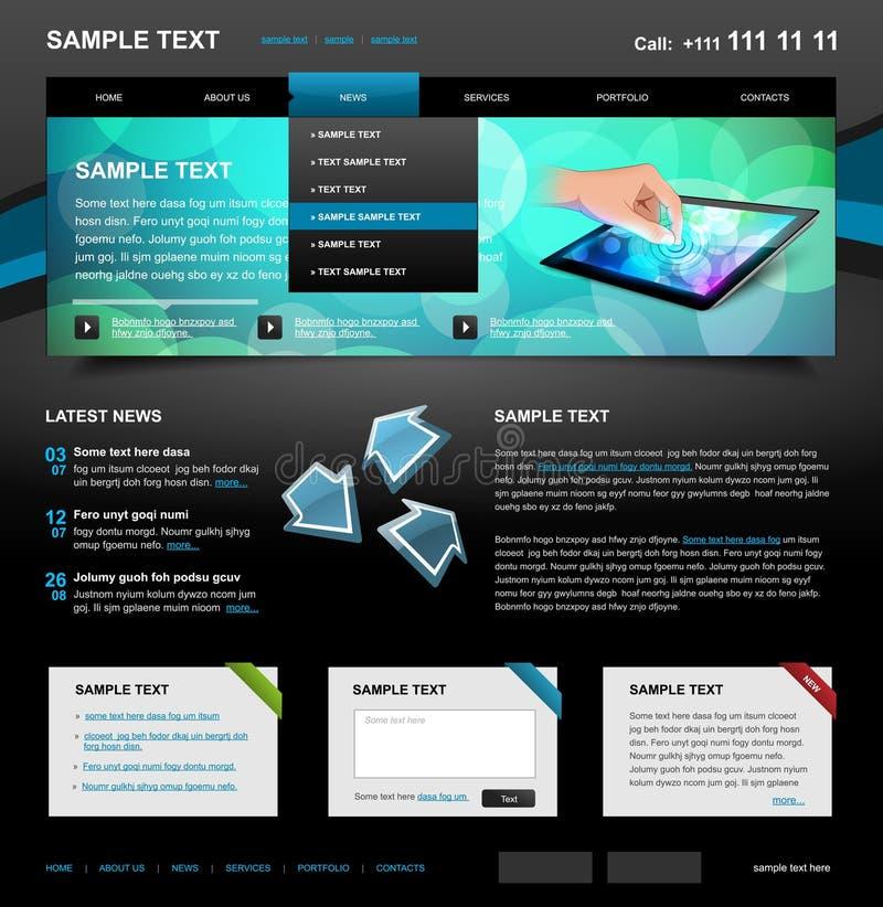 4编辑可能的模板网站 向量例证