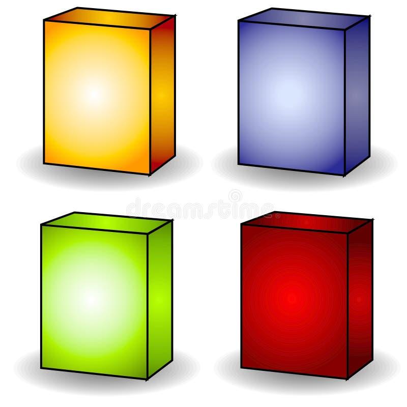 4艺术空白配件箱夹子盖子 皇族释放例证