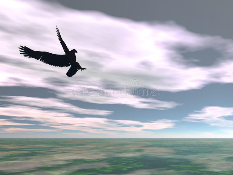 4超现实的老鹰 向量例证