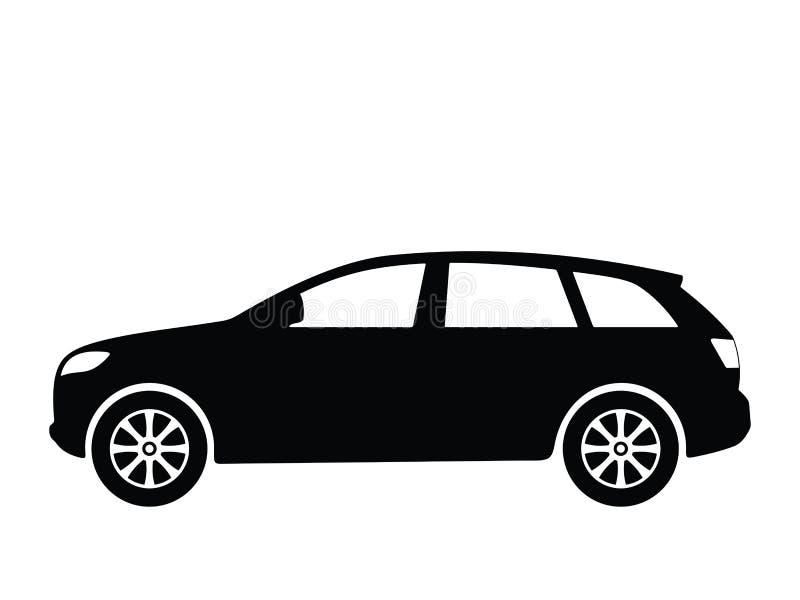 4辆汽车向量 库存例证