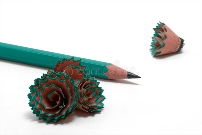4铅笔削片 免版税库存图片