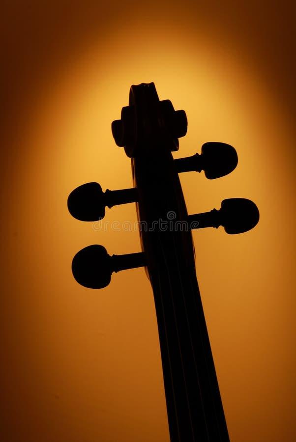 4顶头小提琴 免版税图库摄影