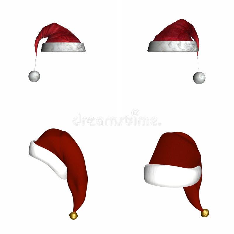 4 świątecznej kapelusza ilustracji