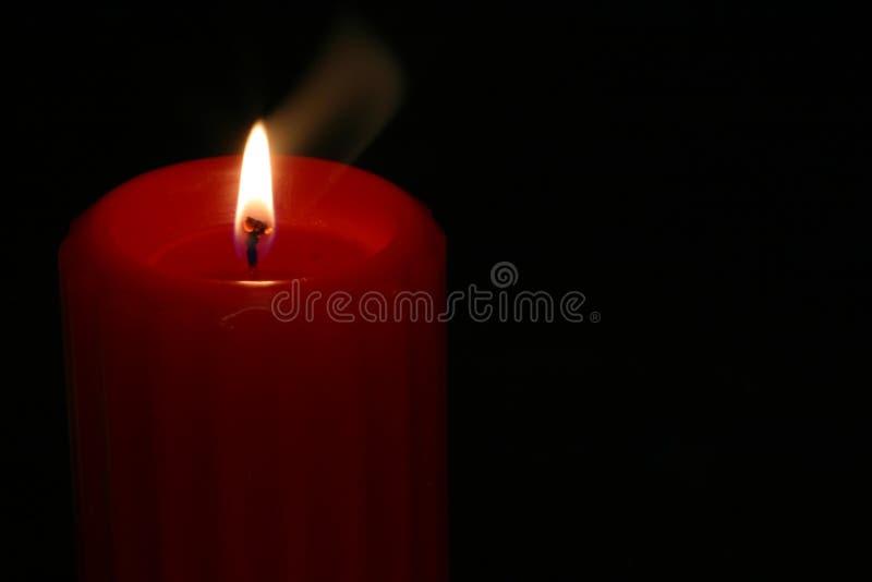 4 świeczek czerwony fotografia stock