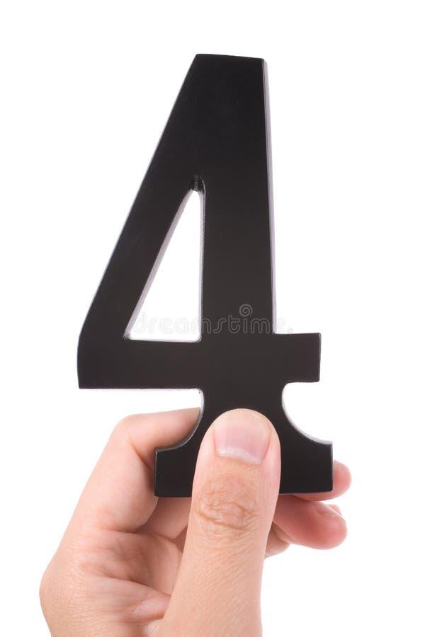 4 αριθμός στοκ εικόνα