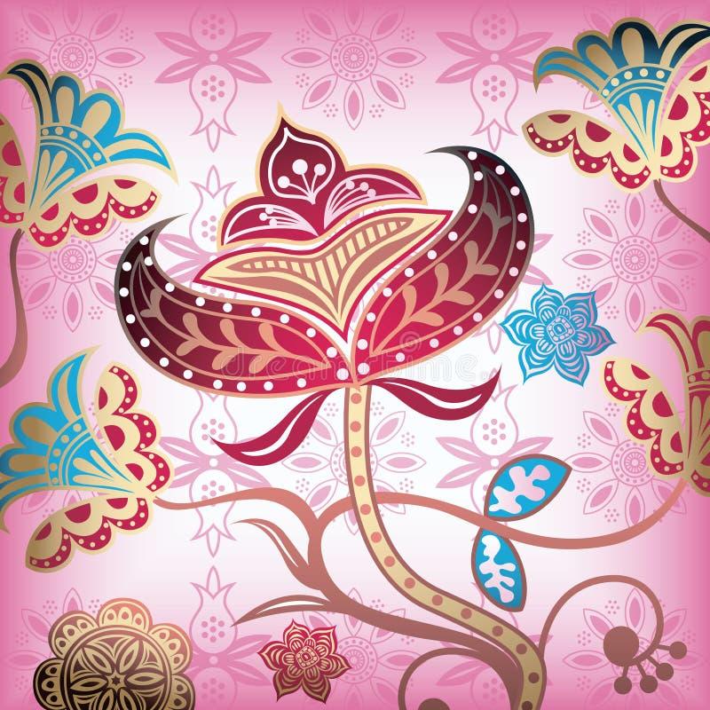 4 αφηρημένος floral απεικόνιση αποθεμάτων