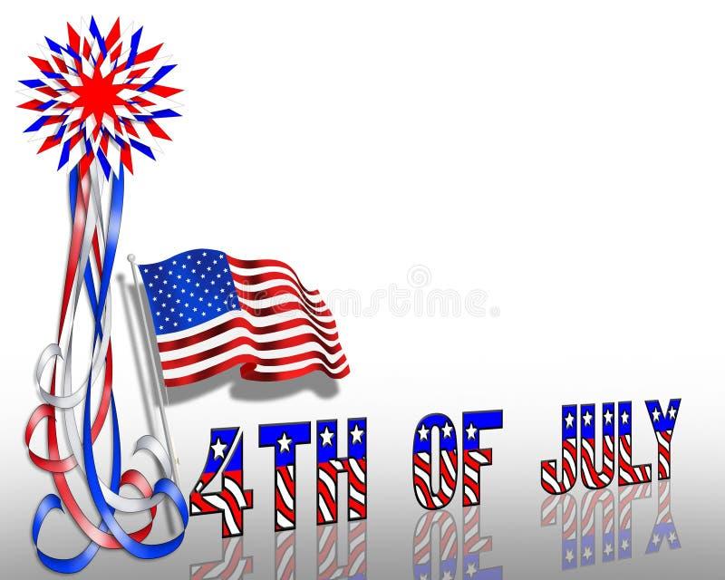 4$α πατριωτικά λωρίδες αστ& ελεύθερη απεικόνιση δικαιώματος