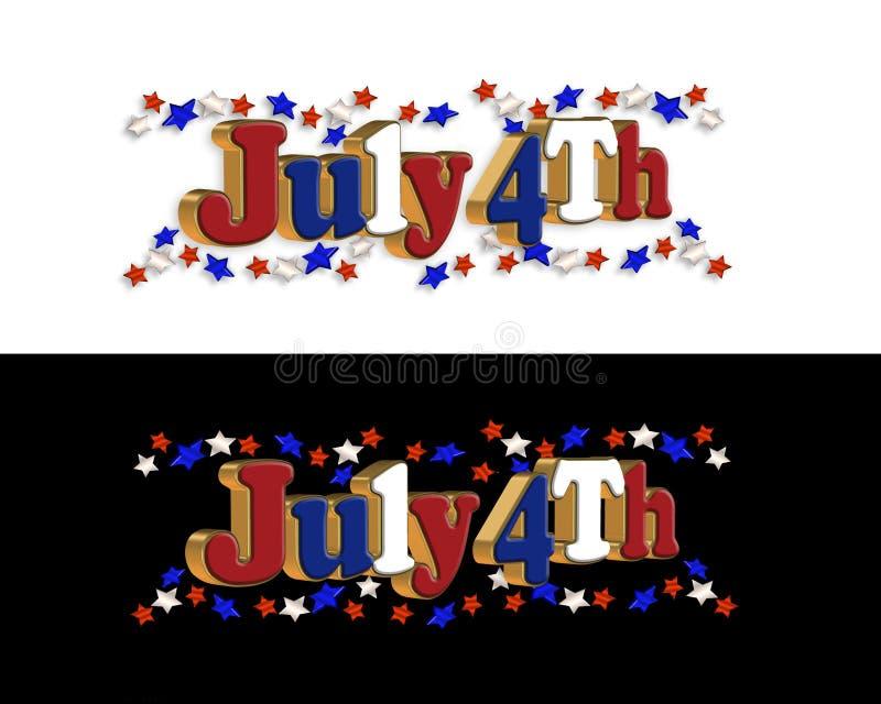 4$α σύνορα Ιούλιος ελεύθερη απεικόνιση δικαιώματος