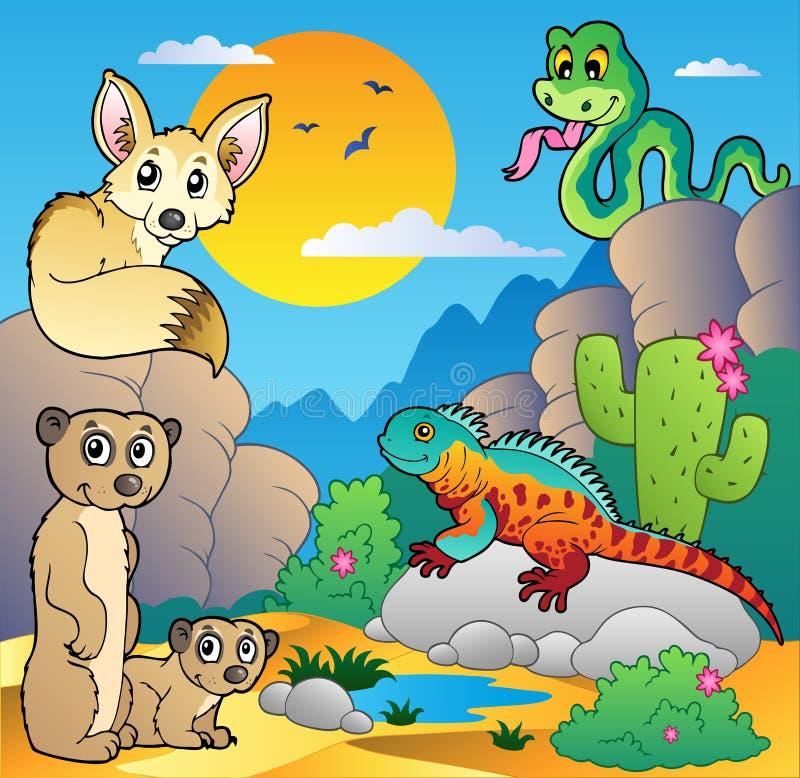 4 ζώα εγκαταλείπουν τη σκηνή διάφορη διανυσματική απεικόνιση