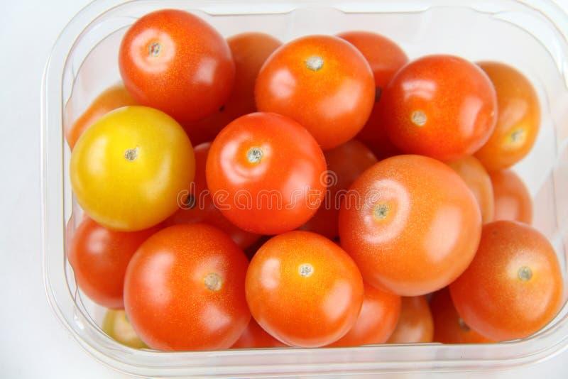 4 ντομάτες κερασιών στοκ εικόνες